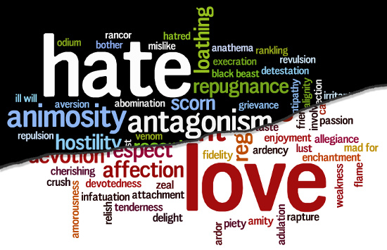 Hate overpowering Love © Deymos.HR | dollarphotoclub.com