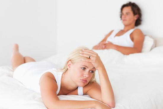 Frustrated wife in bed © WavebreakmediaMicro   dollarphotoclub.com