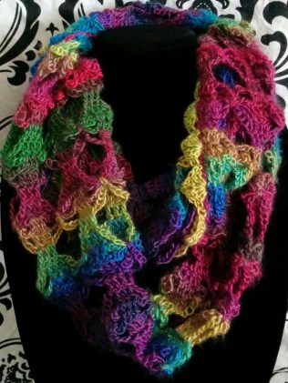 SImply Soft triple play infinity scarf crochet pattern