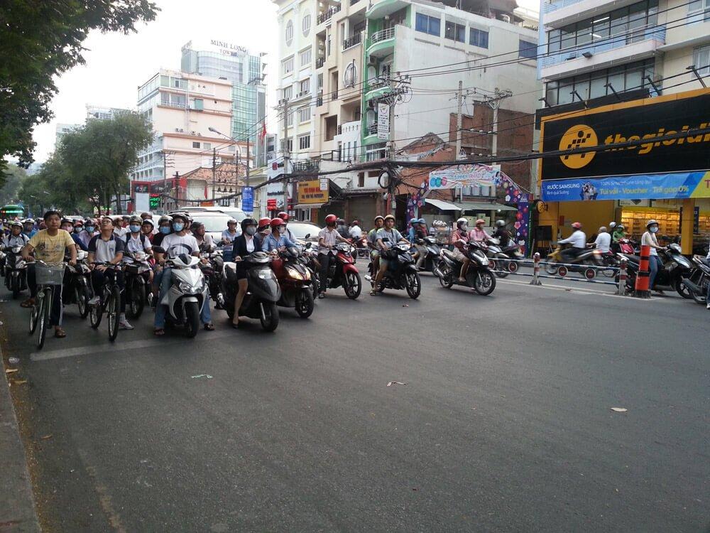 Skutery w Ho Chi Minh