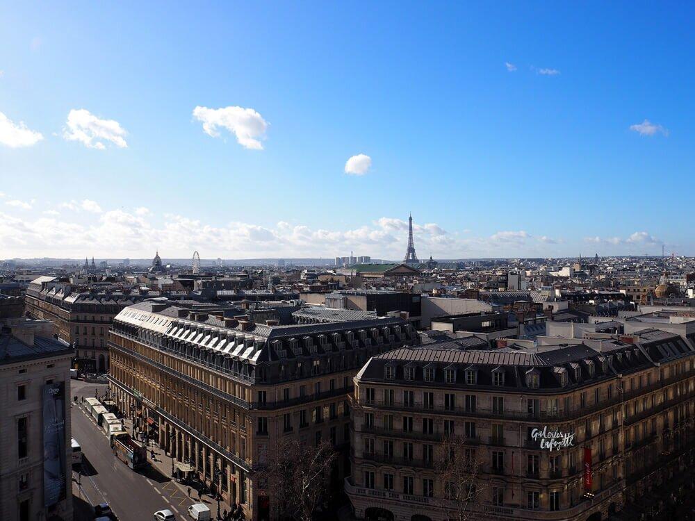 Paryż Galeria Lafayette widok
