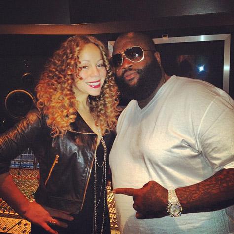 Mariah Carey HITS THE STUDIO With Rick Ross Monica