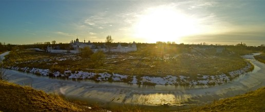 Sunset over Suzdal.