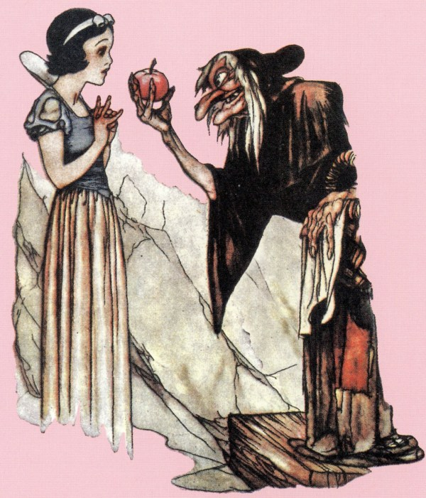 Snow White Poison Apple Drawing