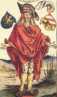 Detail from Albrecht Dürer 1496 Etching of a Person with Syphilis