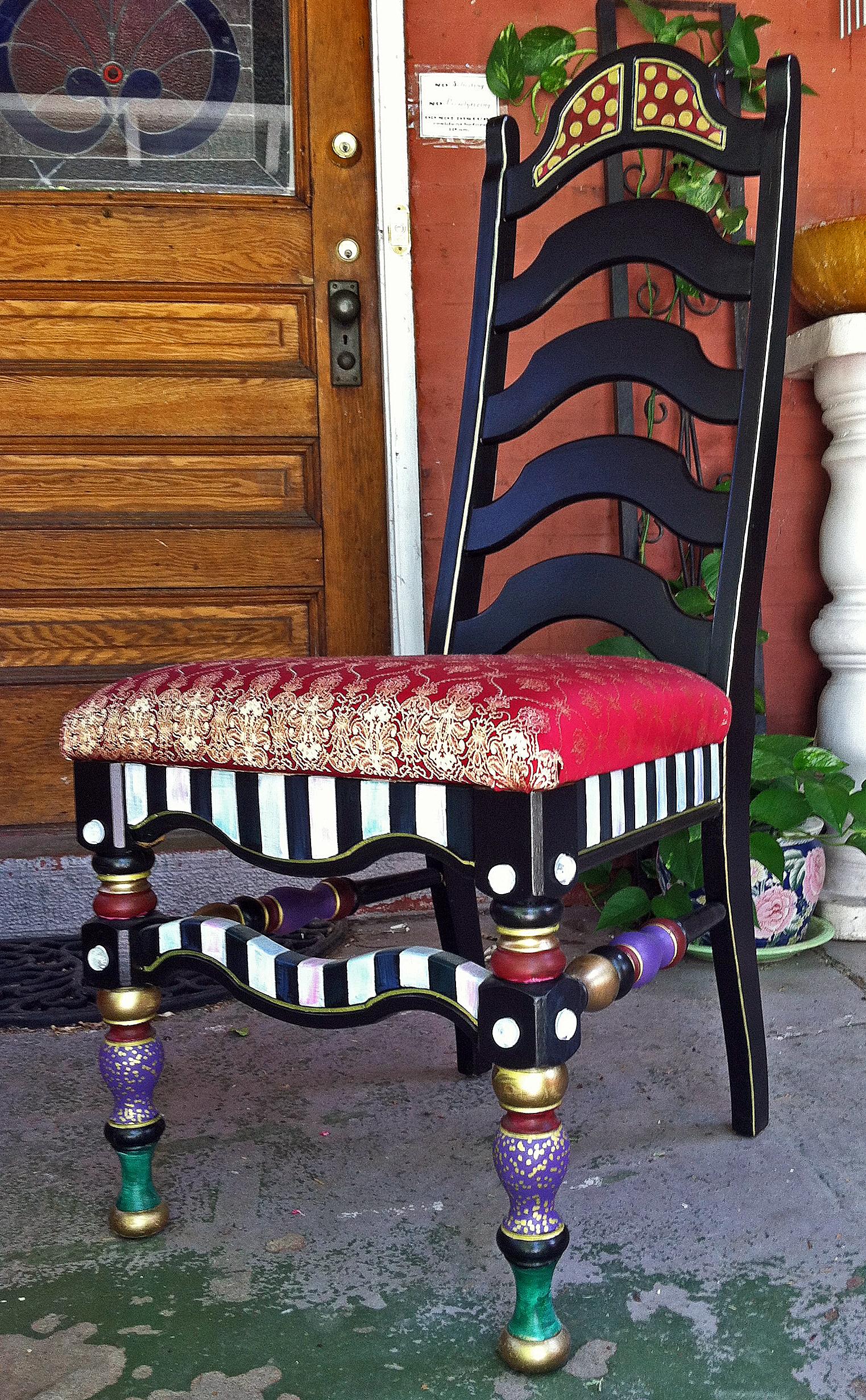 MackenzieChilds Inspired Chair Makeover on Found Alley