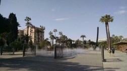 Misty fountain.