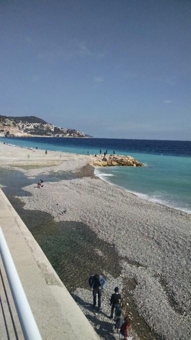 The beautiful blue Mediterranean.