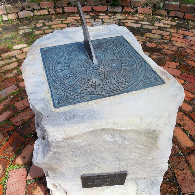 A more conventional sundial.