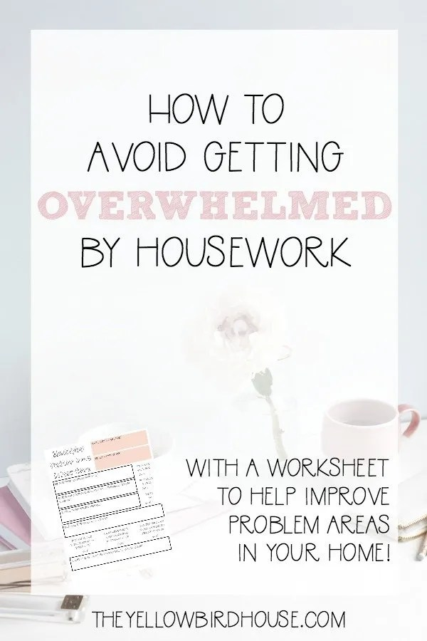 Try my system for keeping the housework monster under control. Plus download a free worksheet for helping you deal with the clutter!