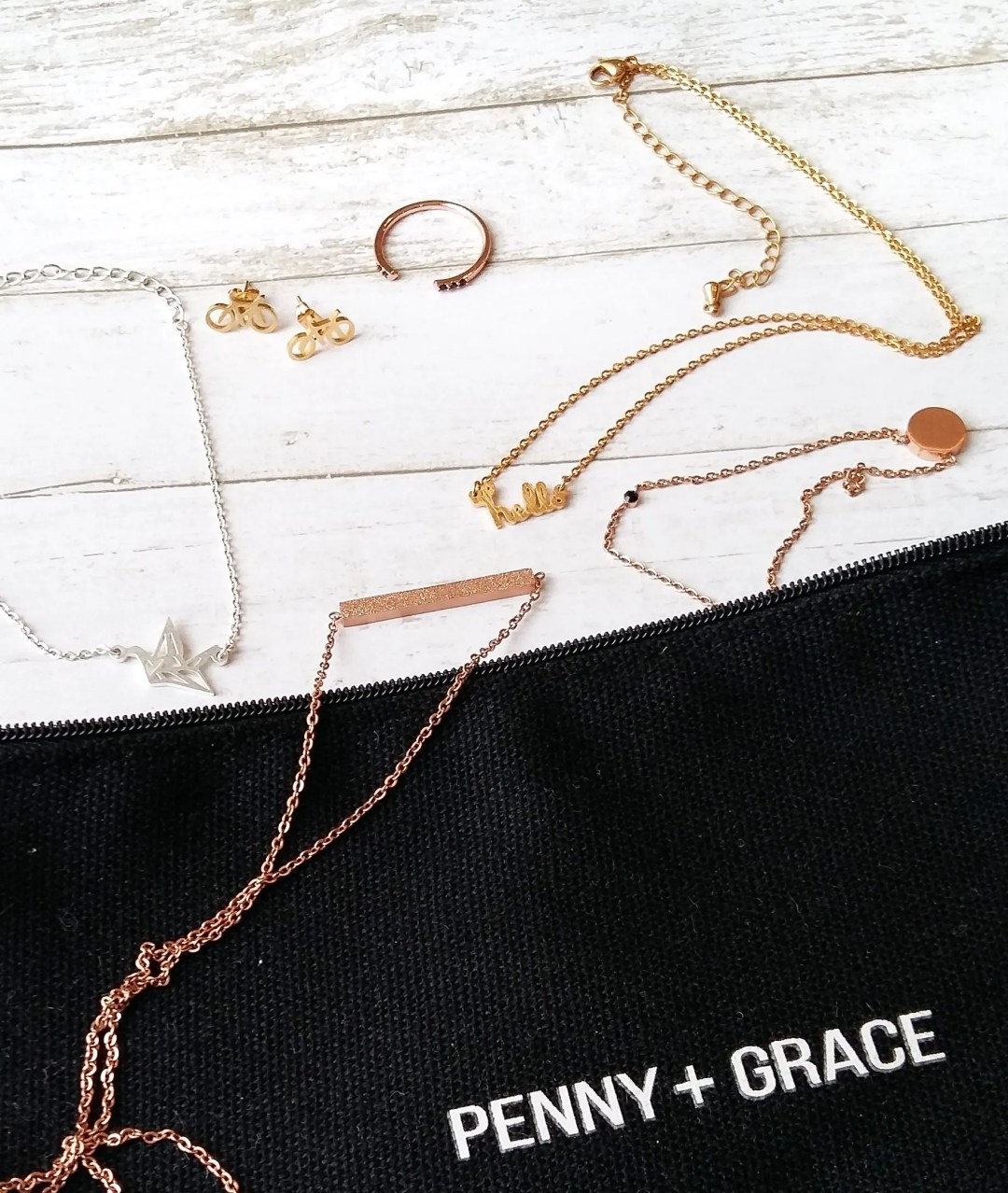 Penny + Grace is an amazing monthly jewellery subscription. Receive 3 coordinated feminine pieces in classic finishes for affordable pricing!