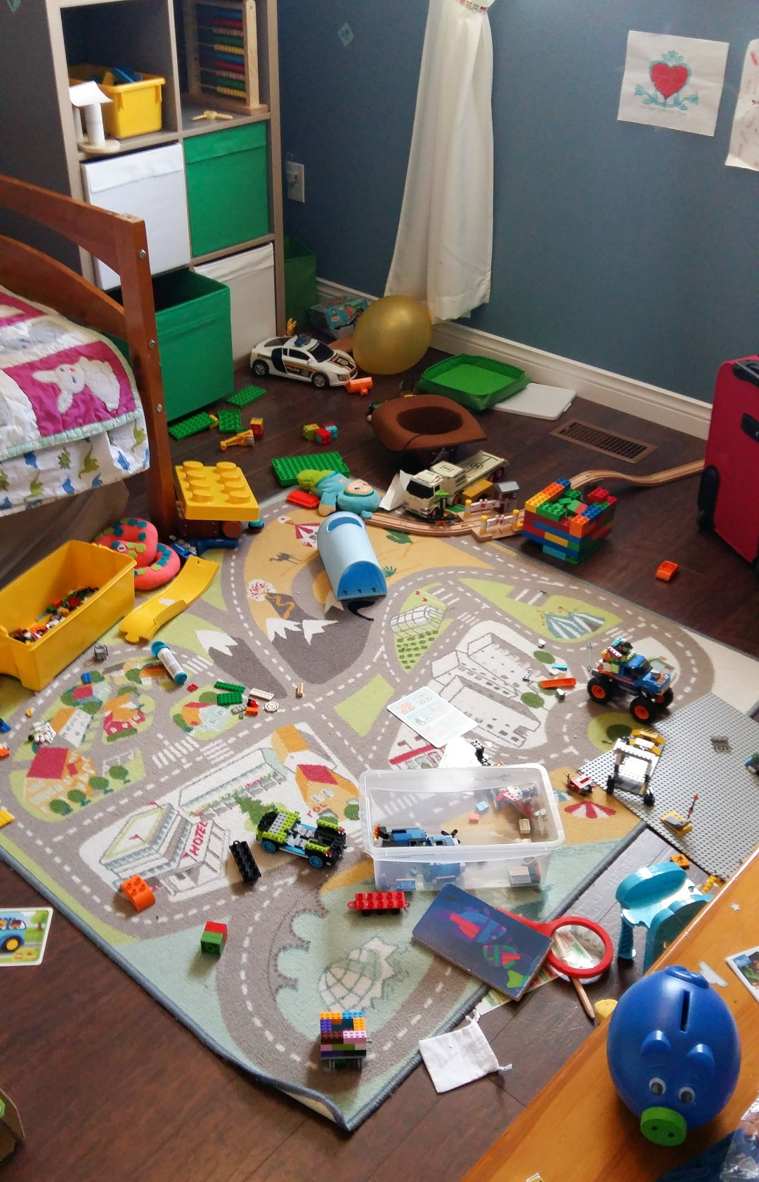 Please tell me your kid's room looks this messy too?!