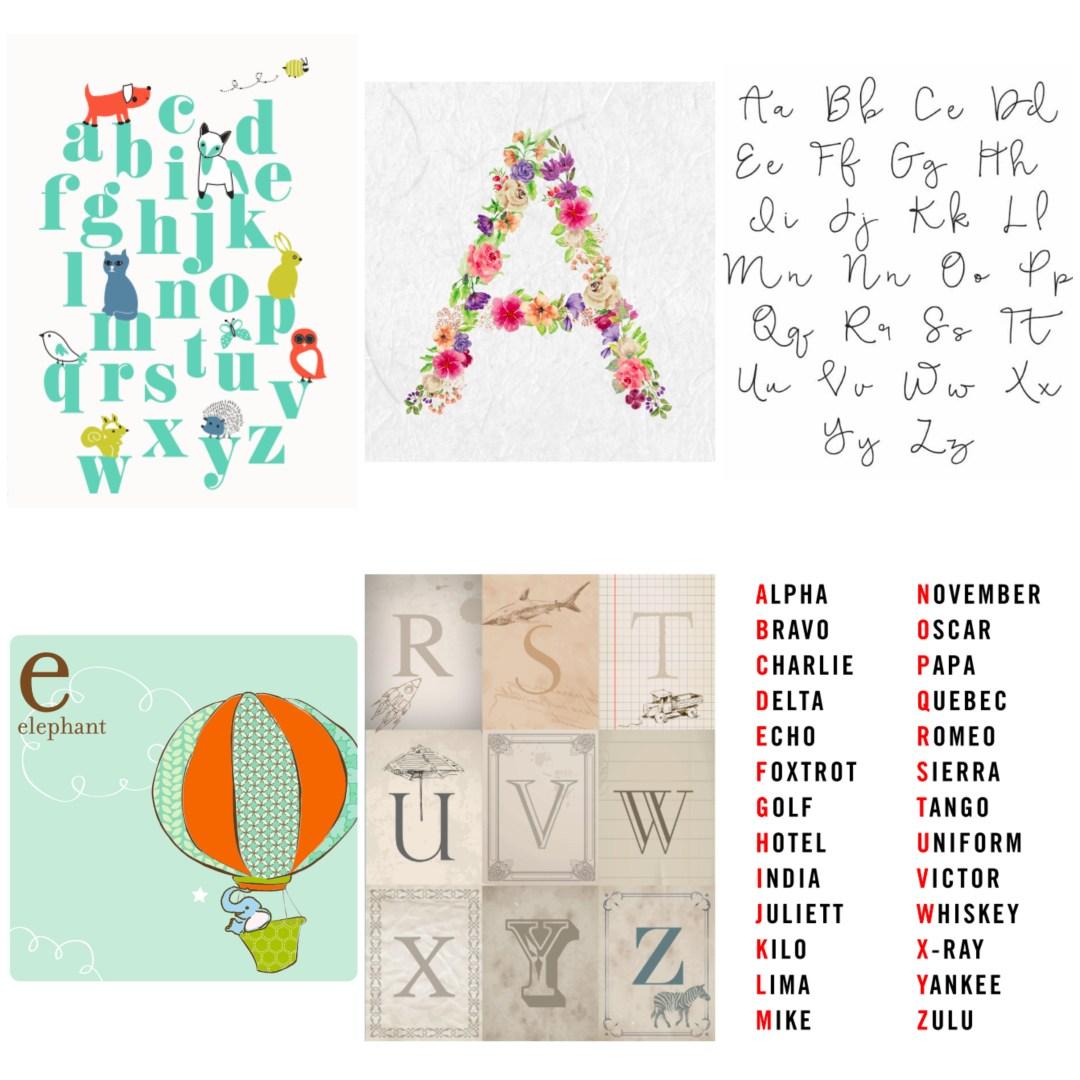 Letters, alphabets & ABC free printables