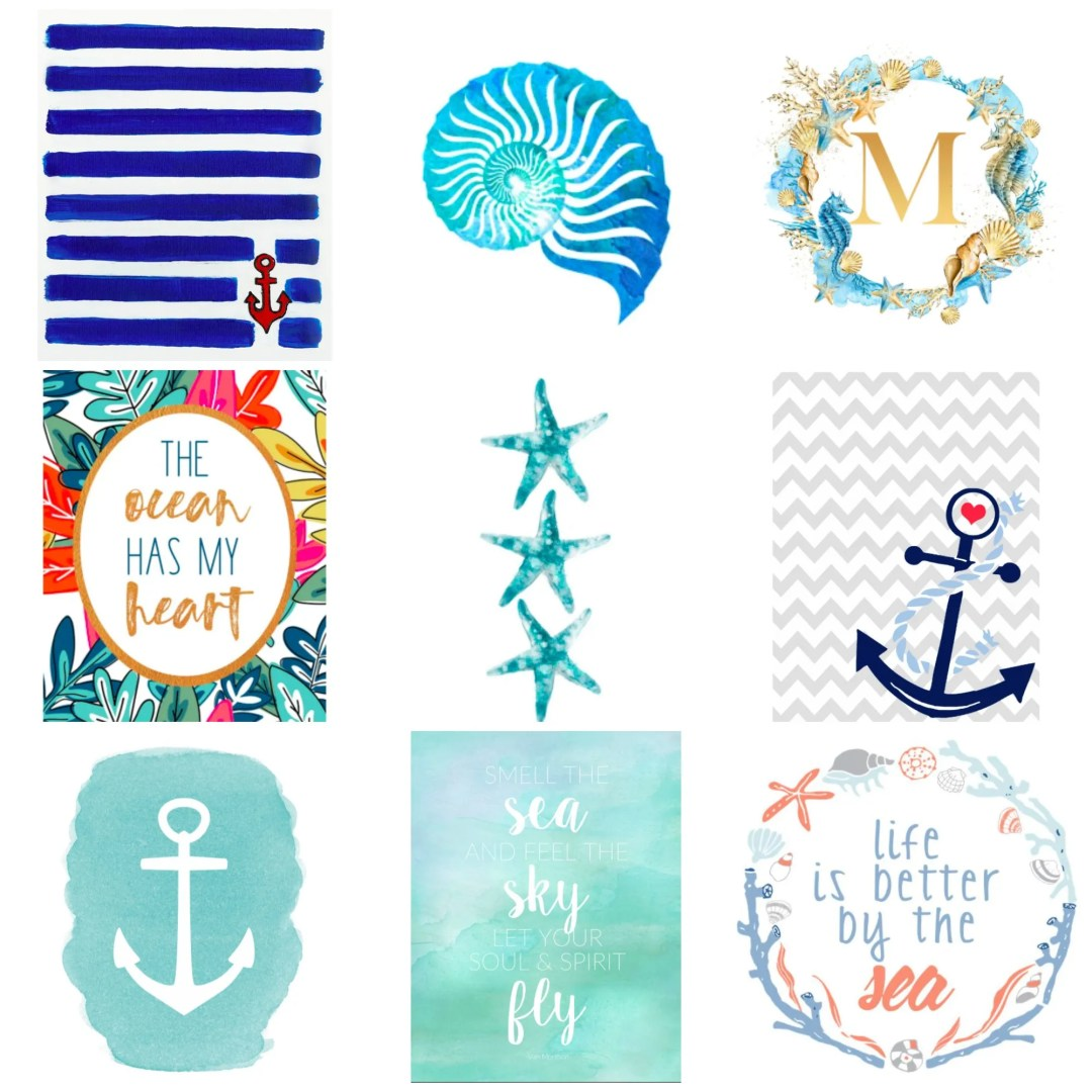 Ocean themed free printables for your little one's nursery!