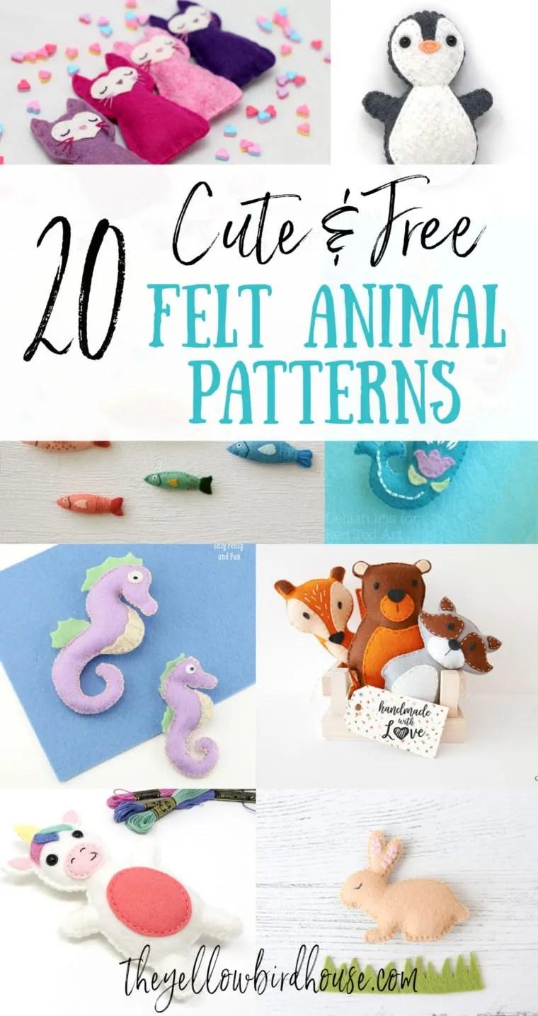 Free Felt Pattern : pattern, Super, Animal, Patterns, Yellow, Birdhouse