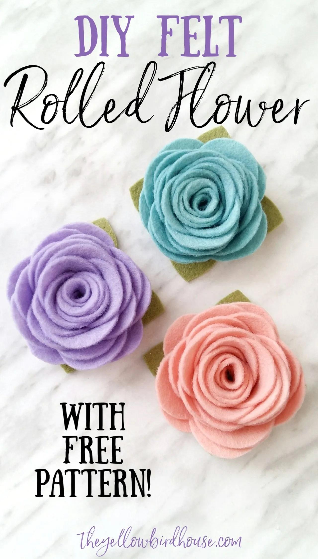 Rolled Flowers : rolled, flowers, Flowers, Printable, Pattern