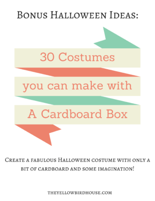 Grab a PDF of 30 more costume ideas made with cardboard!