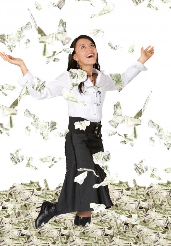 argent tombe du ciel don billets