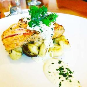 Best Salmon at the Yellowstone Restaurant