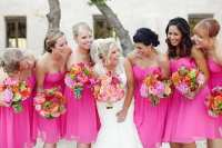 Wedding Wednesday: Pink Bridesmaid Dresses