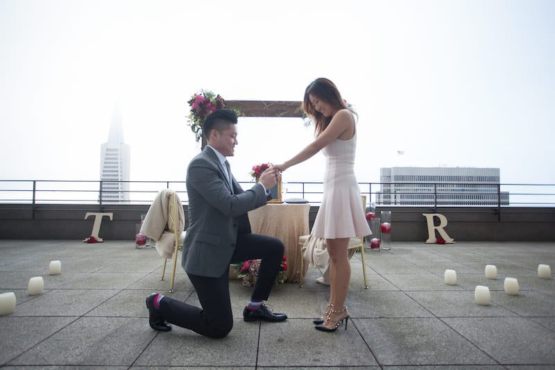 Private Rooftop Romantic Marriage Proposal The Yes Girls