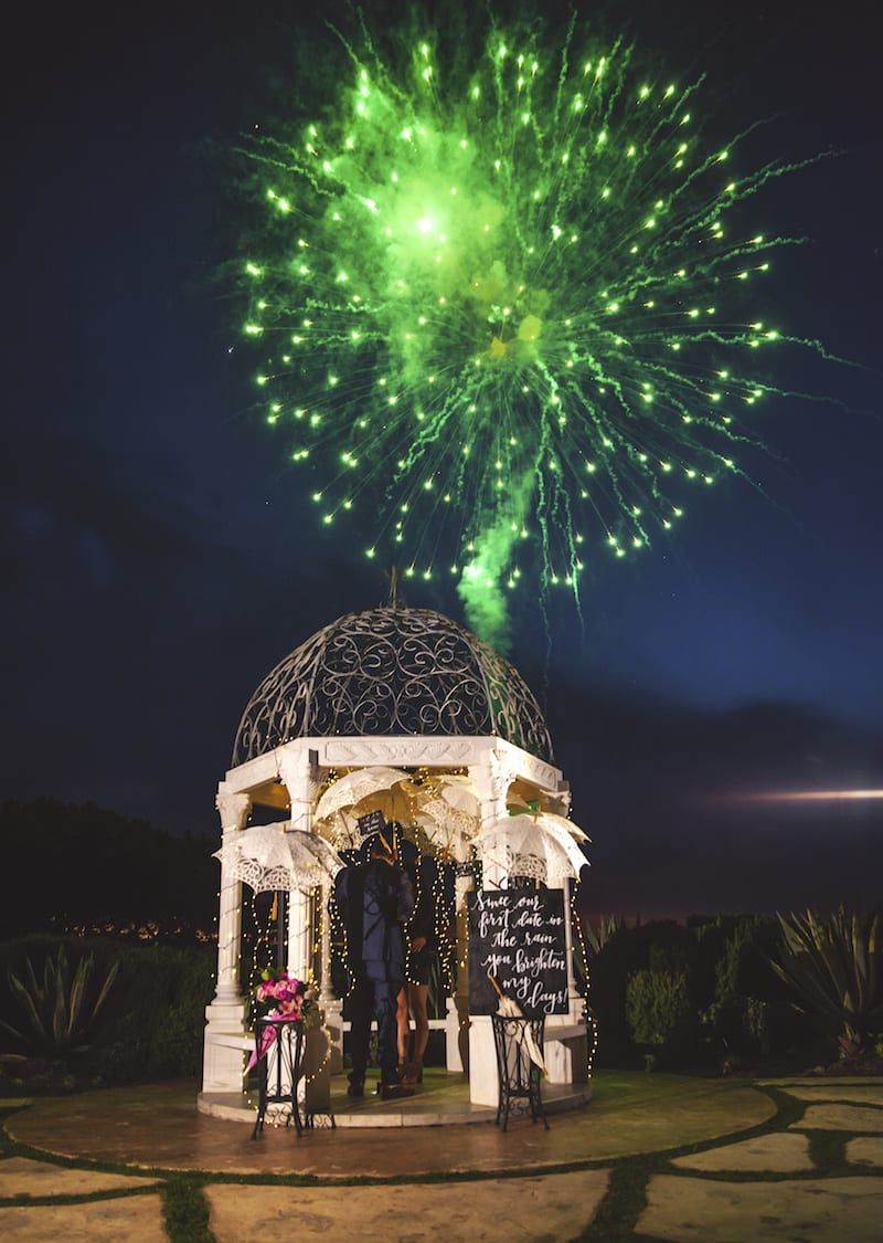 Marriage Proposal With Fireworks In OC The Yes Girls
