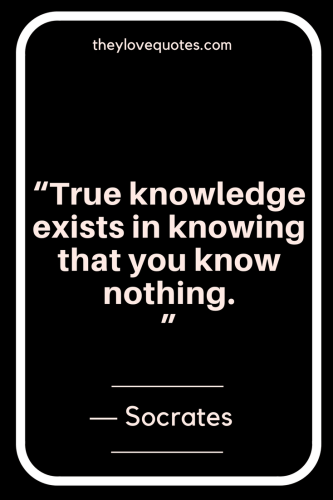 Socrates Quotes - True knowledge exists in knowing that you know nothing.