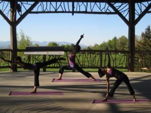 yoga flyer, mohonk pavilion, jacqui