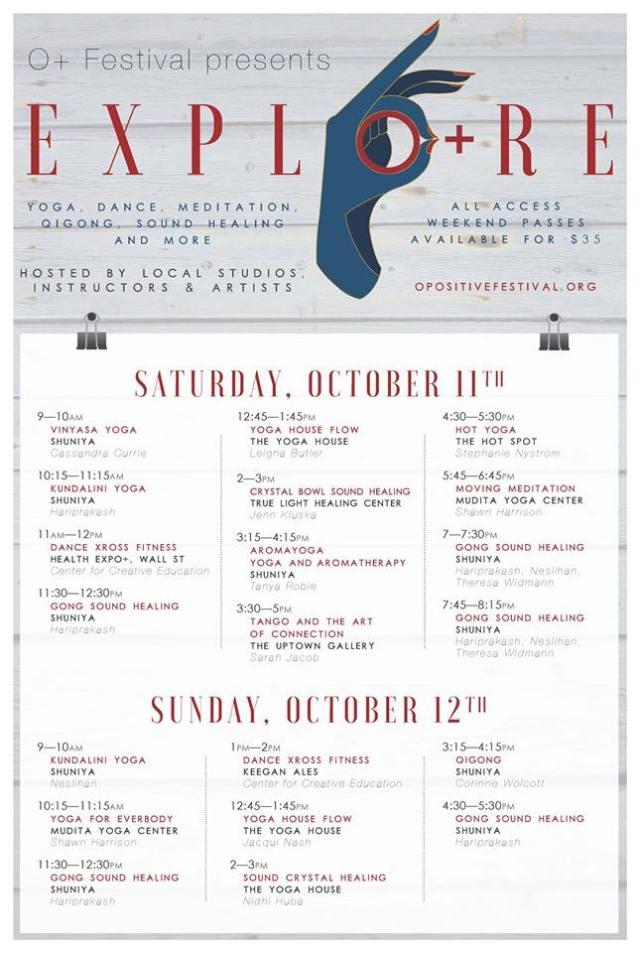 EXPLO+RE O+ Festival Yoga Kingston NY