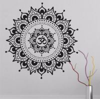 Big Mandala Lotus Flower Wall Decal Vinyl Art Sticker ...