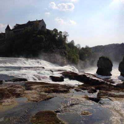 Visiting the Rhine Falls, Europe's biggest waterfall