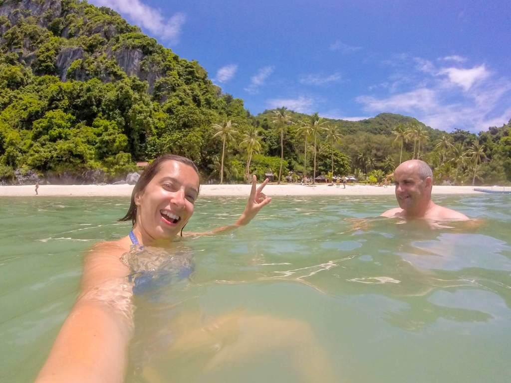 swimming at Koh Wua Talap - ang thong national marine park