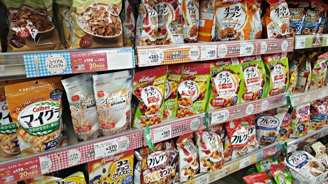 Spending Money in Japan Per Day - Cereal