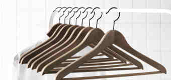 bedroom closet clean - hangers
