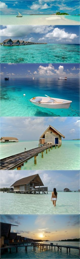 Infinity Pool and Beach In The Islands of Maldives