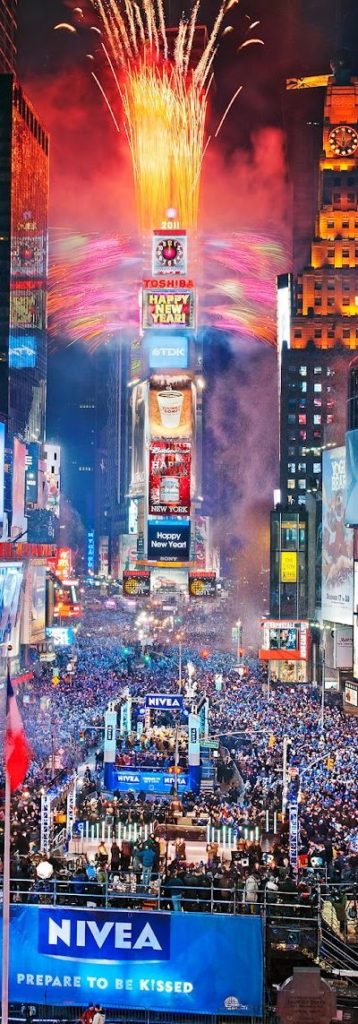 New Years Eve At Time Square New York