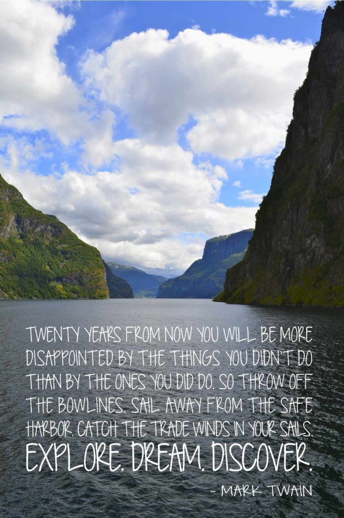 Mark Twain Travel Quotes - Twenty Years From Now