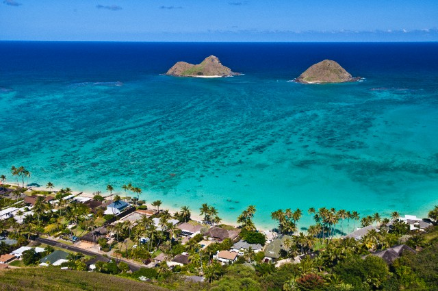 Hawaii Travel Photos - Mokulua Islands, Kailua, Honolulu County | Photo Credits: Mark A. Johnson/Corbis