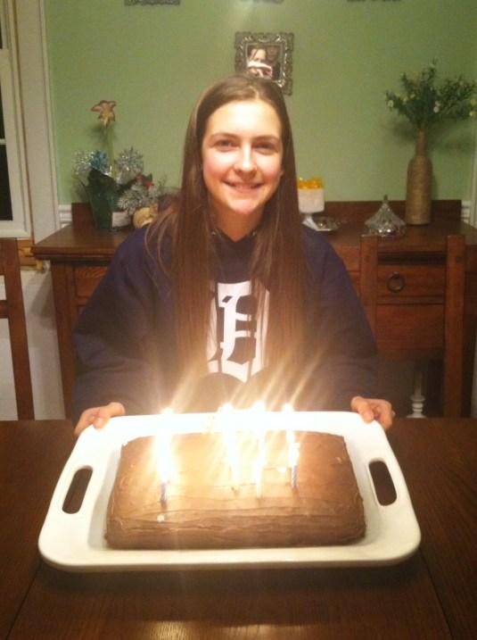 leigha and cake