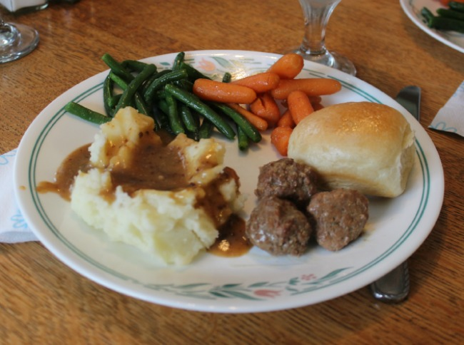 dinner at grandmas - meatballs