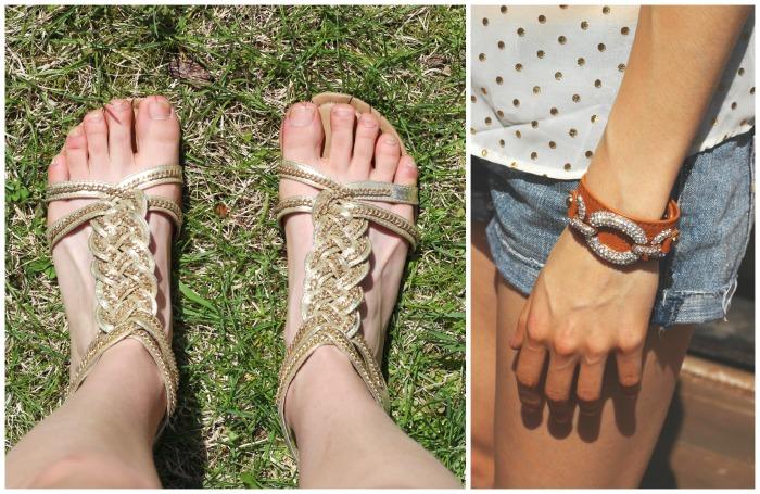 bracelet and sandals