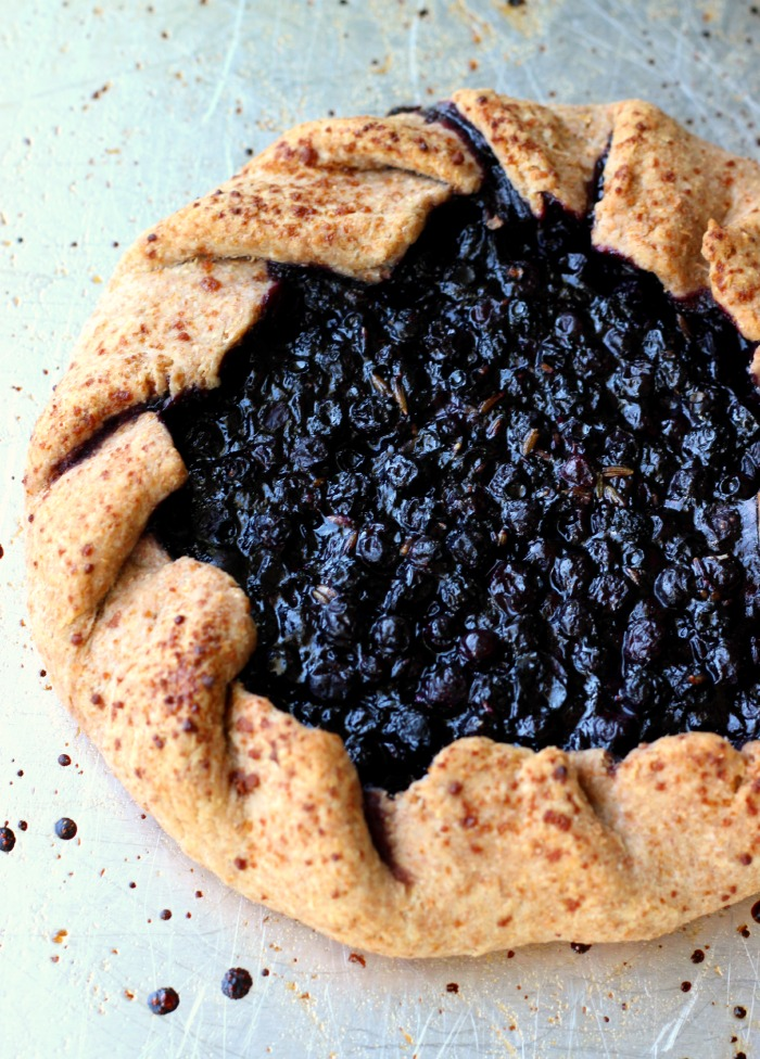 Rustic Blueberry Lavender Tart
