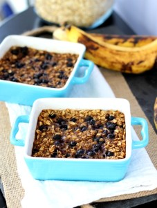 Single Serve Blueberry Banana Oatmeal Bake