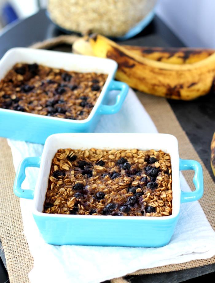 Vegan Single Serve Blueberry Banana Oatmeal Bake
