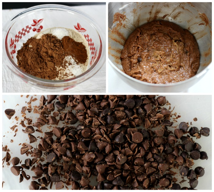 flour batter chocolate chips