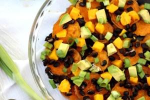 Black Bean Mango Sweet Potato Nachos