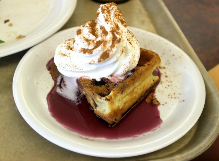 waffle + ice cream