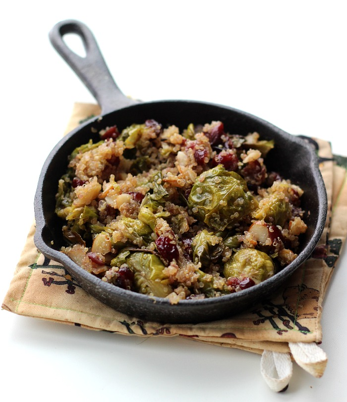 dried cranberry brussel sprout quinoa salad