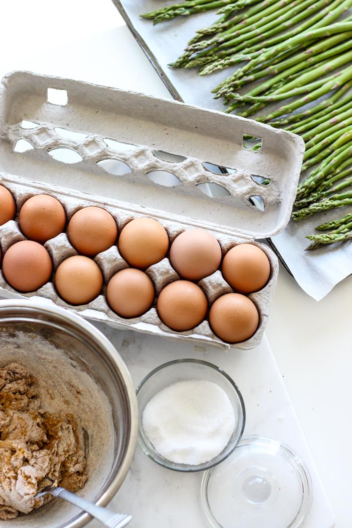 eggs asparagus gnocchi dough