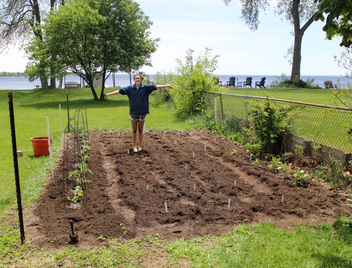 leigha and the garden